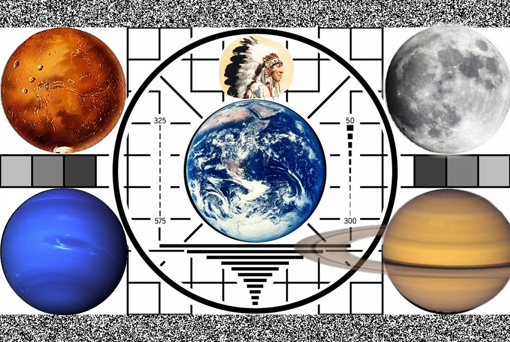 Still Life with Test Pattern and Planets